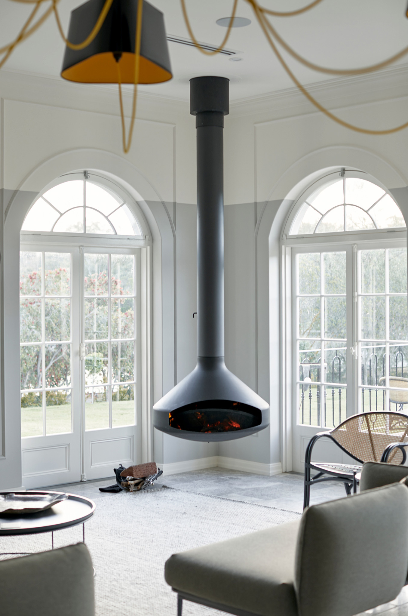 Oblica Suspended Fireplace